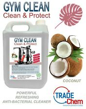 Gym Equipment Cleaning Solution - 5L Spray On Anti-Bacterial Sanitiser - Coconut
