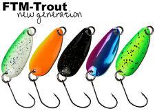 FTM Trout Spoon Forellenblinker Wasp 185 2,5g Schwarz Gelb 5200185 Spoons UL