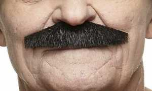 High quality Policeman fake, self adhesive mustache