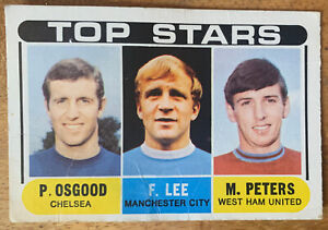 1960s A&BC Unmarked Checklist Football Quiz Card Top Stars Green Back