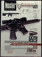 2012 Nosler VARMAGEDON Signature AR Rifle PRINT AD Collectible Advertising Page