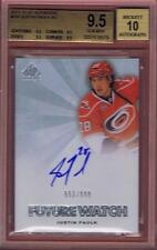 JUSTIN FAULK 2011-12 SP AUTHENTIC FUTURE WATCH /999 #257 BGS 9.5 AUTO 10 11-12