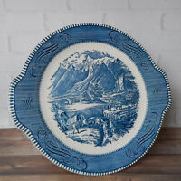 Vintage Currier & Ives Serving Plate The Rocky Mountains Tab Handles by Royal
