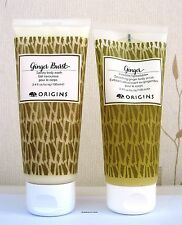 Origins Ginger Burst Body Wash & Smoothing Ginger Body Scrub 2 X  100ml - New