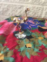 Ostrich  figurine with Swarovski ®️ Crystal, made in Austria