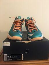 lebron 10 Miami Dolphins VNDS size 10.5
