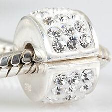 regalo Original masivamente 925 Sterling plata bead topes clip flores