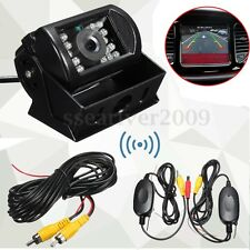 Wireless Rear View Backup Reverse CCD Camera For Car Truck Bus Caravan 12-24V