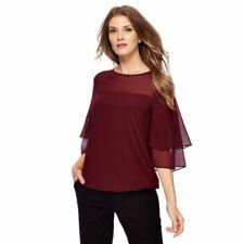 Maglie e camicie da donna maniche a 3/4 rosso classico