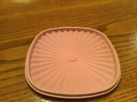 Tupperware Servalier Replacement Lid Square 837-3 Pink Mauve Vintage 7 3/4""