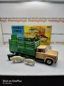 CORGI No.484 Dodge Kew Fargo Livestock Truck 1970 Original Vintage Diecast