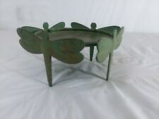 Metal Dragonfly Candle Holder