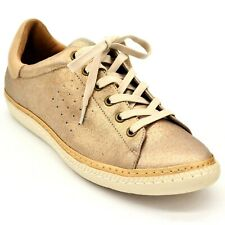 Sofft Womens Arianna Sneaker Size 7.5M Gold Leather Lace Up Cushion Footbed NEW
