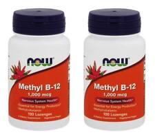 NOW Foods Methyl B-12 1000mcg, 100 Lozenges - 2 Packs