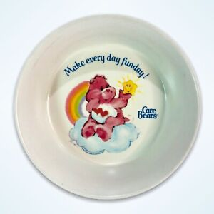 Vintage 1983 Care Bears Melamine Kids Bowl Love A Lot American Greetings SiLite