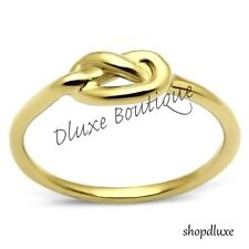 Women's Girls Infinity Knot 14k Gold Plated Love Promise Fashion Ring Size 5-10