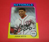2019 Topps Archives JUAN SOTO #119 Nationals World Series Star ~ 75 Design Card