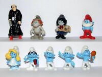 KINDER FERRERO SURPRISE SERIE COMPLETA BANDA PUFFI SMURFS MOVIE CAKE TOPPERS RAR