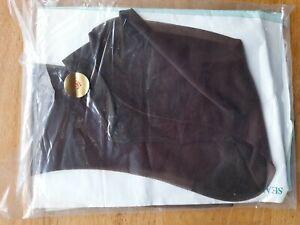 Dark Brown Vintage Beautiful Nylons Stockings Size 9.5 Seamfree NOS