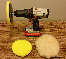 "6"" Polishing Kit, 3 Buffing Pads + Drill Attachment"