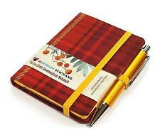 Bacca di Sorbo Tartan: MINI NOTEBOOK con penna: 10.5 x 7.5cm: WAVERLEY Genuine.