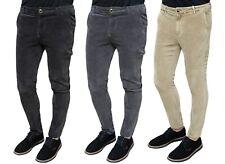 Pantaloni uomo sartoriali in velluto beige nero grigio slim fit da 44 a 54