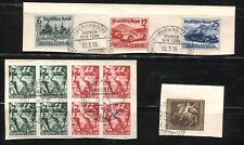 GERMANY Deutsches Reich SC# B116/17 B119 B134-B136 USED on Cover Stamps Postage