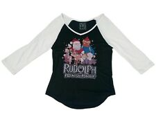 Modern Lux Rudolph the Red Nosed Reindeer Long Sleeve Women-Teens T-shirt size M