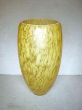 """Wall lamp glass shades, amber/ light fleck pattern, 6 cm base, 8"""""""