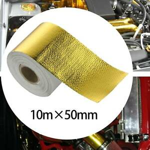 10M Heat Shield Wrap Tape Auto Exhaust Pipe Adhesive Reflective Aluminum Foil