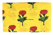 5 Yard Indian Hand Block Print Fabric 100 % Cotton Red Rose Flower Print Fabric