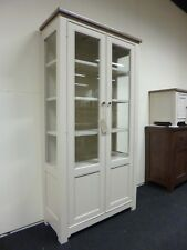 New Large French Reclaimed Wood Glazed Display Unit Cabinet Furniture Store