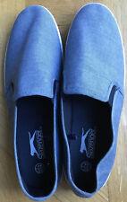 slazenger slip on Plimsoles Size 9.5/ 44 Blue