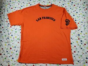 San Francisco Giants Mitchell & Ness Orange T-Shirt Size 2XL 3XL T Shirt