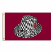 NCAA Alabama Crimson Tide Houndstooth Hat 3-by-5 Foot Flag with Grommets