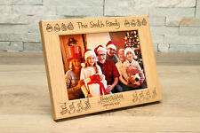 Family Christmas 7x5 Personalised Photo Frame.