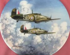 COALPORT FLIGHT THROUGH THE CLOUDS HURRICANE PLANE PLATE REACH FOR THE SKY BOXED