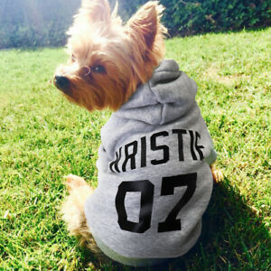 Custom Dog Coat Hoodie Jacket Personalized With Name Pet Clothes French Bulldog