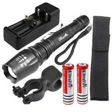 5000LM Zoomable Focus XM-L T6 LED Flashlight Torch Light+2X18650 Battery+Charger