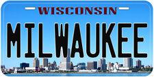 Milwaukee Wisconsin Novelty Car License Plate