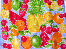 New Kitchen Dish Towels W Crochet Tops  #t264 Fruits Strawberries Pineapple