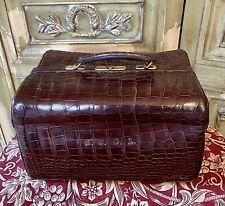 Rare Vintage Gladstone doctors Alligator Skin bag Circa 1920 English made.