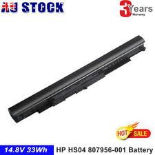 Battery for HP 807957-001 HS04 HS04041-CL HS04XL HSTNN-LB6U HSTNN-LB6V FASTSHIP