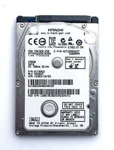 "💥 HITACHI 2.5"" 250GB SATA HDD Hard Drive Tested / Wiped PS3 Laptop Desktop 💥"
