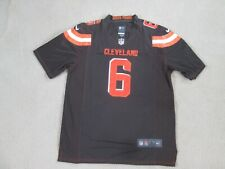 CLEVELAND 'DAWG POUND' #6  MAYFIELD Stitch Home Brown Jersey Men L New^