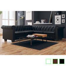 B#vidaXL Chesterfield Sofa 5-Sitzer Couch Wohnmöbel Büromöbel Garnitur Kunstlede