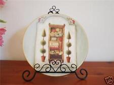 Ceramic Decoration Plate Country Bathroom 20.5cm A