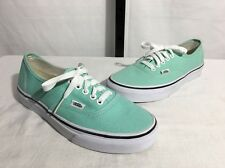 VANS AUTHENTIC MULTI EYELET CLASSIC CANVAS SNEAKERS MINT GREEN M 7 W 8.5 NEW $60