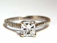 GIA Certified 1.51ct Princess cut diamond ring Cathedral Prime D/VS+