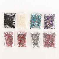 1000PCS 4mm Nail Art Flatback Crystal AB Faceted Round Rhinestone Beads DIY SP